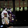 At the End of Movement.<br /> Maiko (apprentice Geisha) at a public dance performance during the 2013 Higashiyama Hanatouro in Gion, Kyoto.