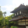 "The Silver Pavilion. It's unknown whether there was plans to coat this pavilion in silver (just like the <A href=""http://jamri.smugmug.com/keyword/kinkakuji"">Golden Pavilion</A> is coated in gold) or if it got it's name just because it is a similar style building to the Golden Pavilion, and thus since it wasn't gold it got nicked named silver. For whatever reason today it's known as Ginkaku-ji (silver temple). What it has over the Golden Pavilion is it's the original (over 600 years  old) building. The current Golden Pavilion on the other hand is a 1955 rebuild."