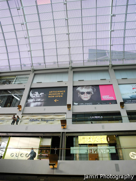 Andy Warhol.<br /> In the Marina Bay Sands shopping center.