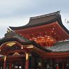 The Central Hall of Iwashimizu Hachiman-gu Shrine.<br /> On top of Mount Otoko, Yawata city, Kyoto-fu, Japan.
