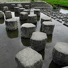Stepping Stones.<br /> Over the Inugawa (dog river) in Nagaokakyo.