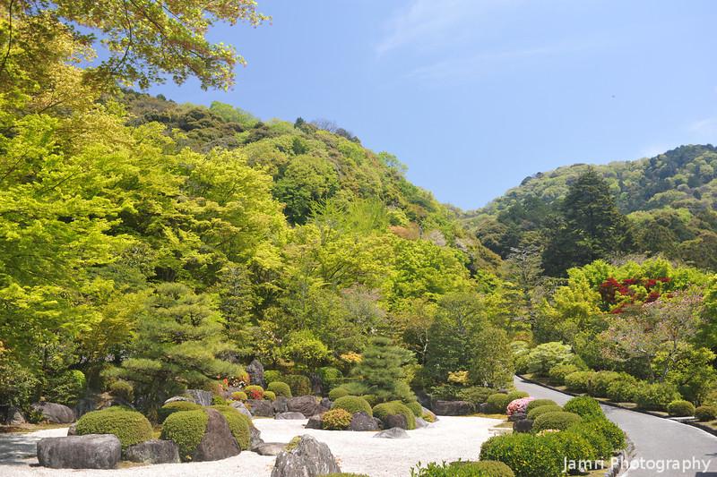 The Rock Garden.<br /> At Mimuroto-ji (a Buddhist Temple), in Uji city, Kyoto-fu, Japan.