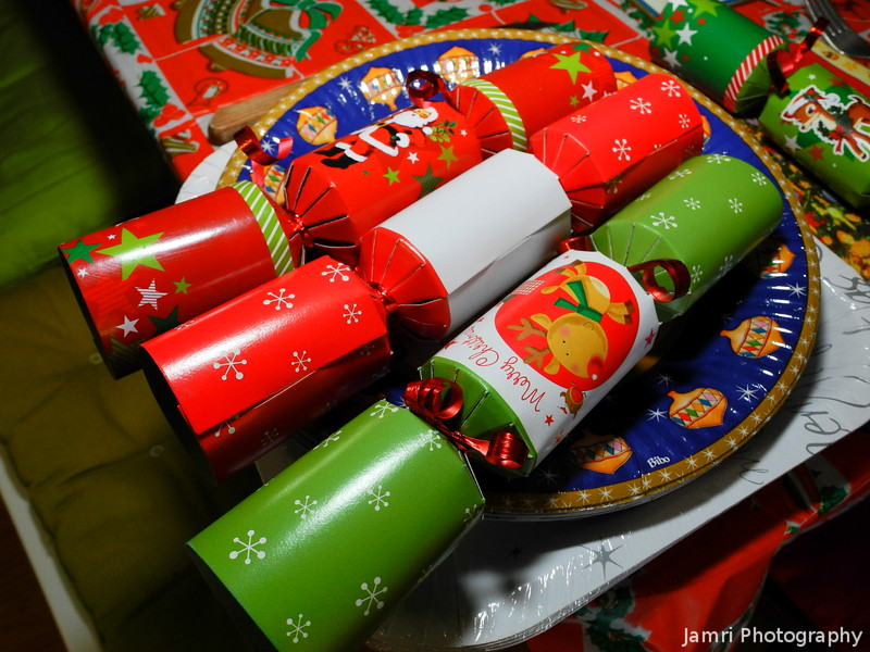 Three Christmas Crackers