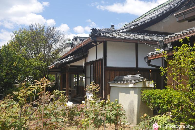 Temple Accommodations.<br /> At Otokuni Temple in Nagaokakyo, Kyoto-fu, Japan.
