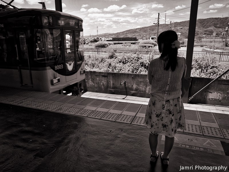 Waiting for the Train (Monochrome Version)