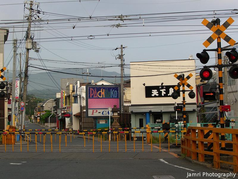 Rail Crossing on Tenjin-dori