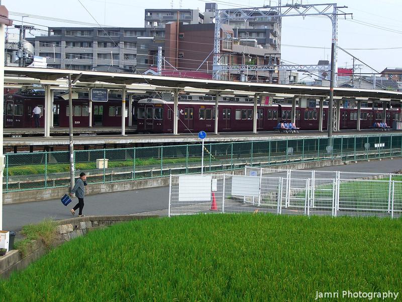 Towards the Hankyu Station