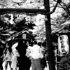 At the Entrance of Nonomiya Shrine.<br /> In Arashiyama, Kyoto.<br /> Note Film Shot: Nikon F80 + 50f/1.8 + Orange Filter + Fujifilm Neopan Acros