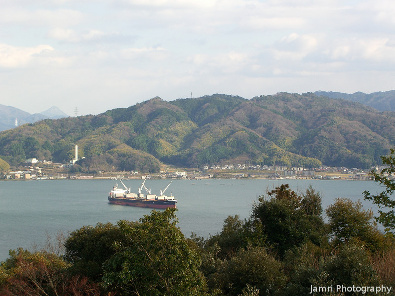 A Ship in a Bay.<br /> Towards Miyazu city, this scenery brings back memories of Albany in Western Australia.