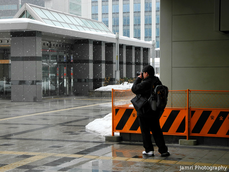 Photographing the Snow.<br /> It's what you do in Sapporo during the winter!