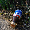 Abandoned Bottle.<br /> Even in clean Japan, it's still possible to find litter in places. Here's an abandoned Genki Drink (health or vitamin drinks) bottle.