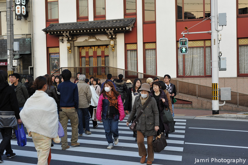 At the crossing to the Kabuki Theatre.