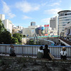 "From the ""Smokers"" Garden.<br /> My first time back in Sannomiya, Kobe since last October and I found my favourite little garden at the Train Station Complex, had become a ""smokers"" garden! Typical of Japan, but a least the laws are changing where people can smoke now-a-days, so they have probably be driven out of here."