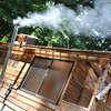 The Bathhouse 1.<br /> Complete with a way too hot bath which had a raging fire underneath it.