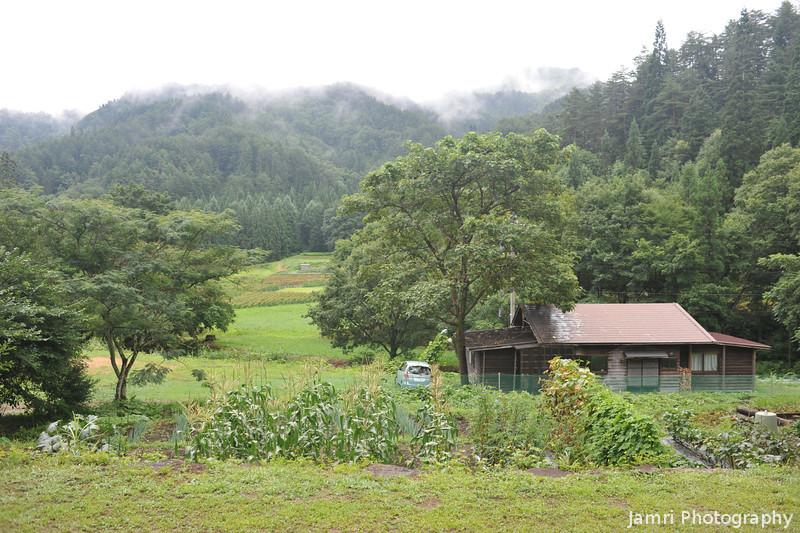Misty Morning.<br /> At Aburamu no sato (Abram's place), near Hida Furukawa, Gifu Prefecture.