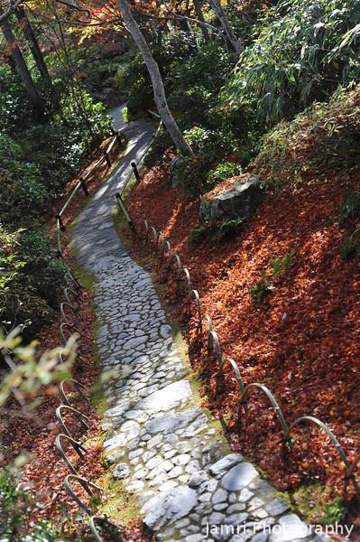 Garden Path.<br /> At Okochi Sanso, Arashiyama, Kyoto.