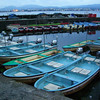 Boats in a little harbour.<br /> At the Southern end of Lake Biwa, Shiga, Japan. Taken during my 7km walk along the Shores of Lake Biwa from Hama-Otsu station to Ishiyama station.