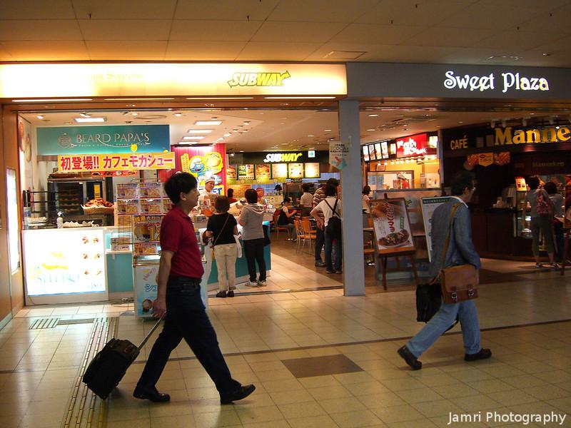 In Takatsuki Station.<br /> Certainly a lot more shops than in Nagaokakyo Station. Went to Takatsuki to shop at Jupiter's.