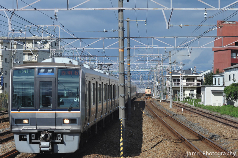 Local Arriving.<br /> At JR Nagaokakyo Station.