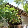 The open air eating area.<br /> At Aburamu no sato (Abram's place) near Hida Furukawa, Gifu Prefecture, Japan.