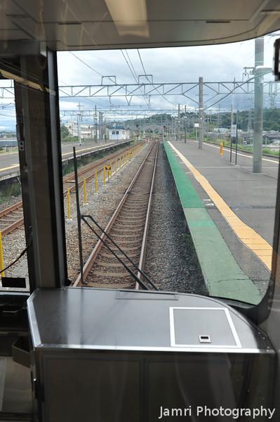 The View Down the Track.<br /> At Omi-Imazu Station in Shiga Prefecture.