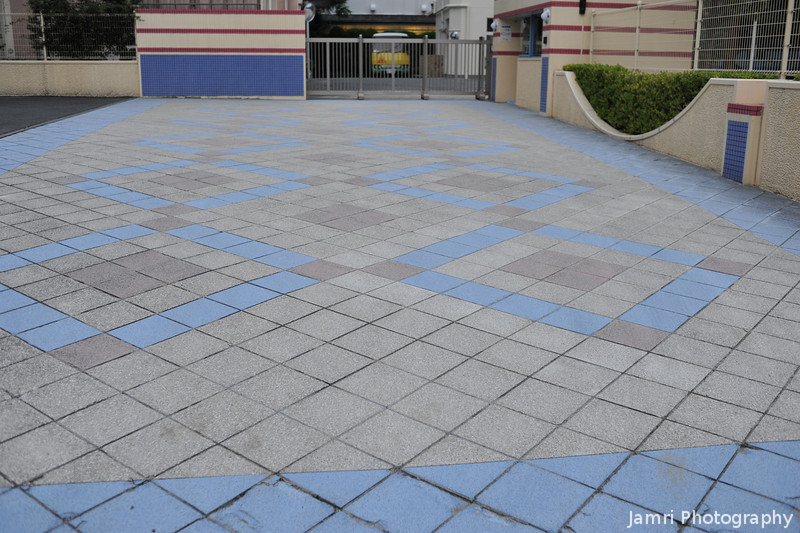 Colourful Paving.<br /> At Megumi Kindergarten.