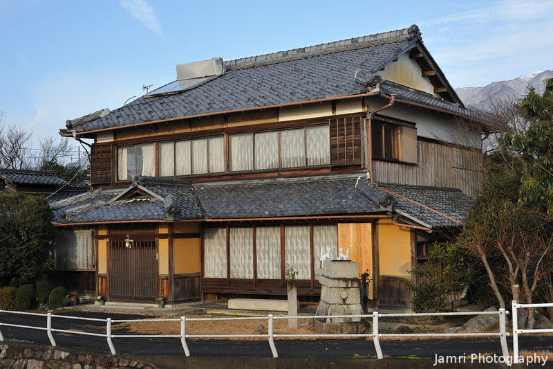 A House near Lake Biwa.<br /> In Wani, Shiga Prefecture.
