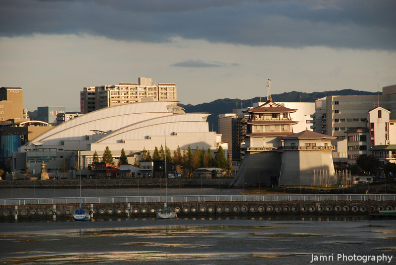 Golden Light on Otsu.<br /> Part of Otsu, the capital city of Shiga prefecture, Japan.