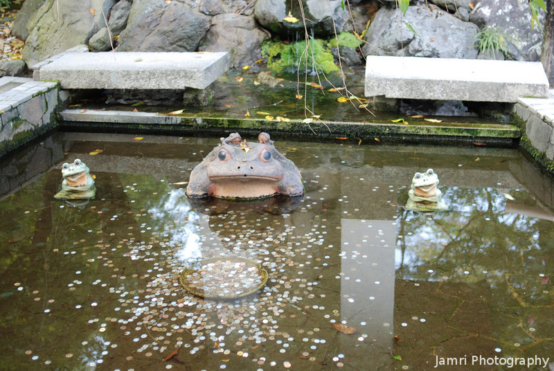 At the wishing pond.<br /> In Tenryu-ri (a Buddhist Temple) Arashiyama, Kyoto.