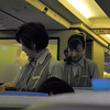 Affirmative Action.<br /> A stereotypical view of Japan is of sexist place with cuteness being the most important thing for ladies, but ANA is setting the lead in affirmative action with senior cabin crews. This pair were in their early 60s and on this flight none of the cabin crew were younger than 40. On the return flight most of the cabin crew in the 30s-40s age groups. Still I've not seen any male cabin crew on Japanese Airlines yet, so there is room for improvement. Even Singapore Airlines who market themselves on the Singapore Girl have plenty of male cabin crew members.