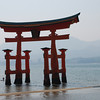 Floating Torii.<br /> At Itsukushima shine on Miyajima in Hiroshima prefecture.