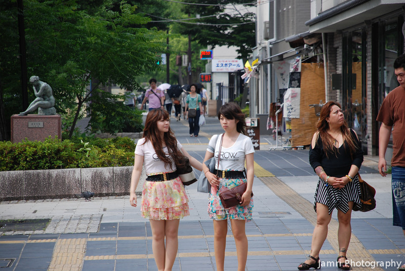 In the streets of Himeji.<br /> A snapshot I made on the way to the castle.