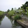A view down the canal.<br /> In Kurashiki, Okayama-ken.