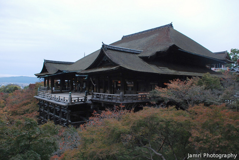 Kiyomizu Temple, Autumn Morning View.