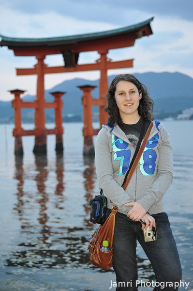 Melissa and the Floating Torii.
