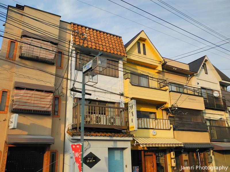 Colourful Buildings on Azalea-dori.