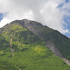 Mountain top.<br /> The peak of Mt. Yake-dake an active volcano.<br /> In Kamikochi National Park, Nagano Prefecture, Japan.