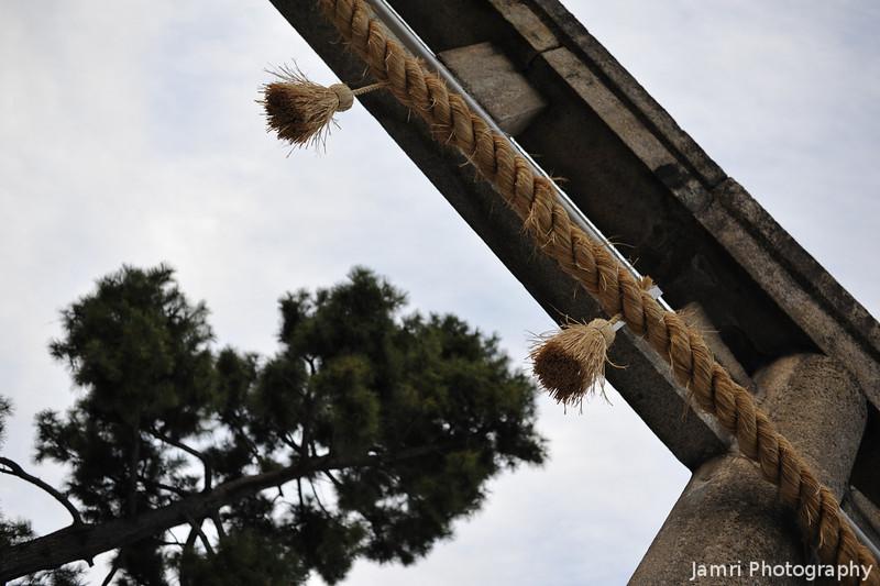 Shrine Gate.<br /> In Yodo, Fushimi ward, Kyoto City.