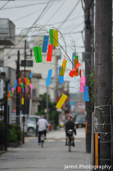 "Decorating the Street. For the <A href=""http://en.wikipedia.org/wiki/Tanabata"">Tanabata Festival</A>"