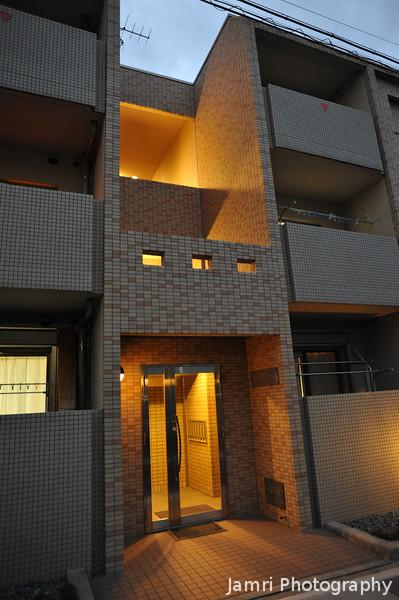 Apartment Block Entrance.