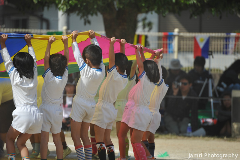 Working together.<br /> A lot of the things at the sports carnival we more examples of teamwork rather than competitions.
