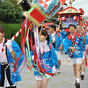 Leading the way for the Mitsubishi Mikoshi.