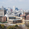 View Towards Umeda.<br /> The Ferris wheel (top right) is the one on top of the HEP-Five building in Umeda. From Osaka castle.