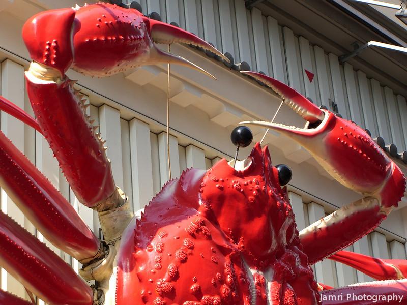 At the Famous Crab Restaurant.<br /> In Dotonburi, Osaka.