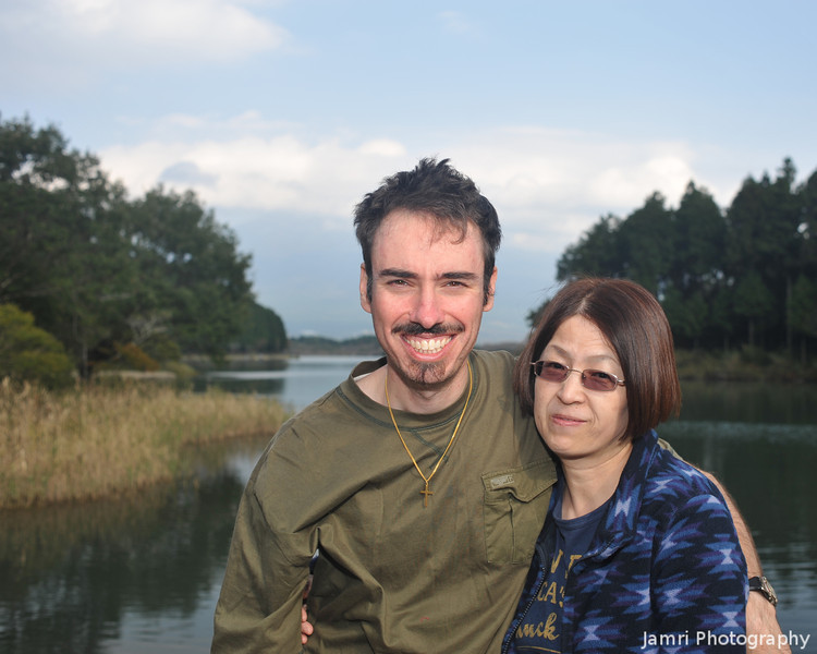 Us at Lake Tanuki.<br /> Photo by Tess Coffey.