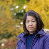 Ritsuko at the Imperial Palace Park.<br /> Ritsuko and I went and shot some portraits of each other in front of the autumn colour at the Kyoto Imperial Palace Park.