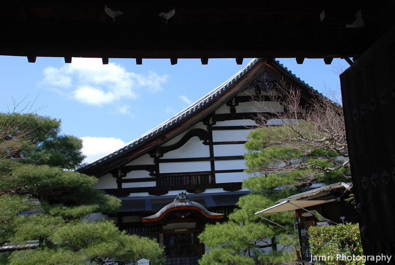 Through the Gateway.<br /> At Kochi-in another temple near Nanzenji.