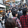 Crowed Streets.<br /> The road up to Kiyomizu temple on public holiday during the colour change season.