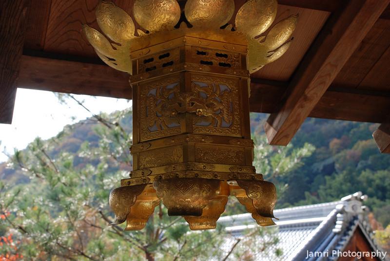Temple Decorative Lantern.<br /> At Komyo-ji (a Buddhist Temple) in Nagaokakyo.