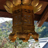 Temple Decorative Lantern.<br /> At Komyo-ji (a Buddhist Temple) in Nagaokakyo.
